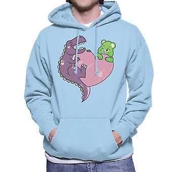 Care Bears Unlock The Magic Good Luck Bear Dino Heart Men's Hooded Sweatshirt