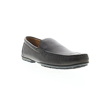 Geox U Moner C Mens Brown Leather Loafers & Slip Ons Moccasin Chaussures