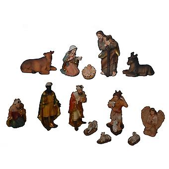 Crib figures 13-pcs. Set synthetic resin crib figures JOSEF12 cm