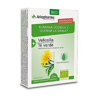 Arkocápsulas Complex Grønn te og Vellosilla - Fettforbrennere og Eliminering 40 kapsler