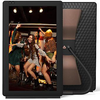Nixplay seed wave 13.3 inch wifi digital photo frame with bluetooth speakers - share moments instant
