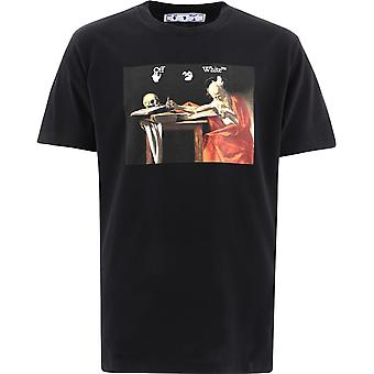 Off-white Omaa027r21jer0041025 Mænd's Black Cotton T-shirt