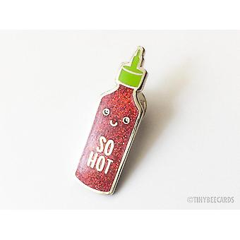 So Hot- Sriracha Sparkle Hard Enamel Pin
