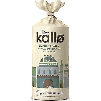 Kallo Low Fat Rice Cakes - Lightly Salted 130g x12