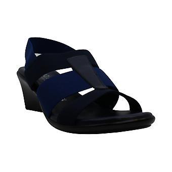 ITALIAN Shoemakers Womens 5673S7 Sandal Fabric Open Toe Casual Platform Sandals