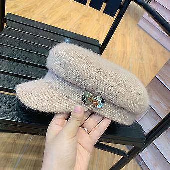 Téli meleg nyolcszögletű kalap, Szabadidő Napellenzősapka/nők