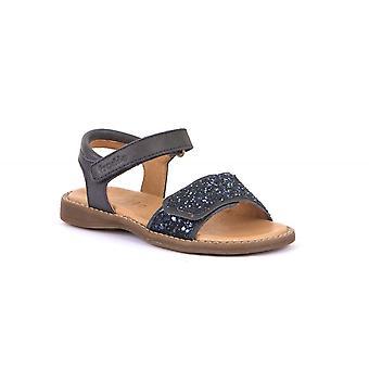 FRODDO Open Toe Sparkle Sandal Navy Blue
