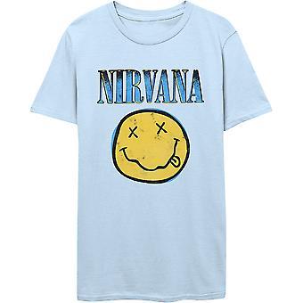 Nirvana Xerox Logo Blå Officielle Tee T-Shirt Unisex