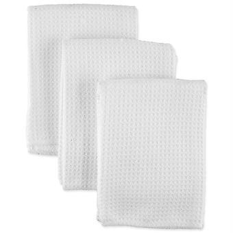 Dii 3-Piece Micro Waffle Weave Blanco Dishcloth