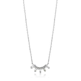 Ania Haie Silver Rhodium Plated Glow Solid Bar Necklace N018-03H