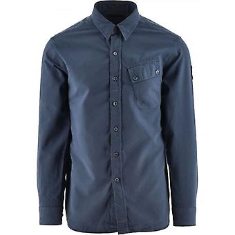 Belstaff Racing Blue Pitch Twill Shirt