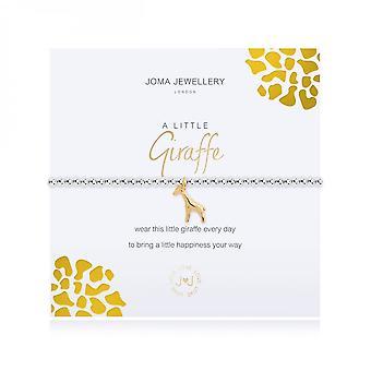 Joma Sieraden Een kleine giraffe zilver 17,5 cm stretch armband 3477
