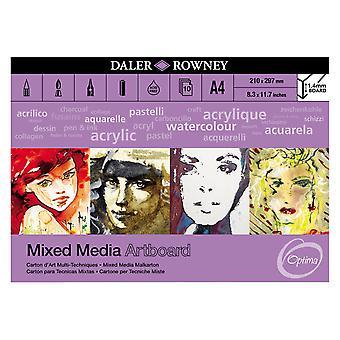 Daler-Rowney Optima Mix Media Artboard Pad A4 10 Sheets