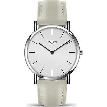 VOTUM - Ladies watch - SLICE SMALL - PURE - V05.10.10.05 - leather strap - white-écru