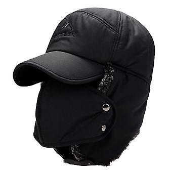 مفجر القبعات الدافئة أفخم الأذن اللوحات قناع تنفس الرقبة سميكة قبعة دورة الشتاء