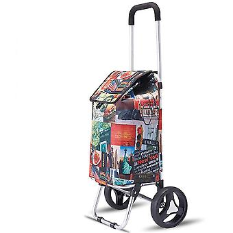 Shopping Grocery Foldable Cart Lightweight With Great Loading Trolley