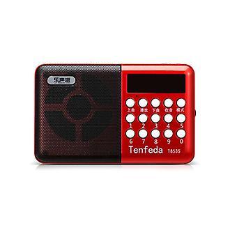 المحمولة FM راديو المحمولة الرقمية USB TF MP3 لاعب المتكلم القابلة لإعادة الشحن الطاقة قبالة