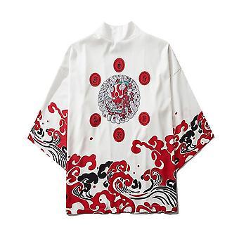 Samurai Kran Japansk Stil Kimono