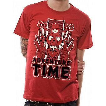 Abenteuer Zeit Unisex Erwachsene Spiegel Bild T-Shirt