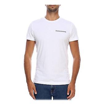 T-shirt a maniche corte da uomo Calvin Klein E LIIN SLIM T White/XL