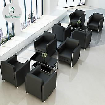 Fashion Office Sofa Simple Business Cloth Reception Room Tea Table