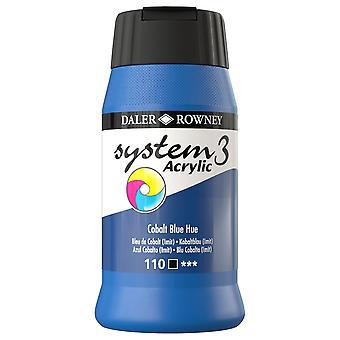 Daler Rowney System 3 Acrylic Paint Cobalt Blue (500ml)