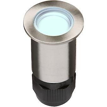 24V Small Stainless Steel Ground Fitting 4 x Blue LED, IP67