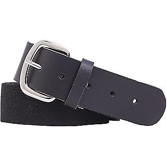 Rubber belt with leather trim 4cm wide