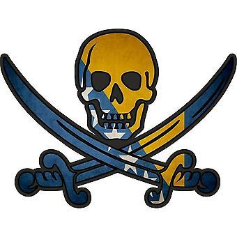 ملصق ملصقا القراصنة جاك rackham calico العلم البوسنة والهرسك البلد
