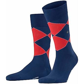 Burlington Kingston Socks - Deep Sea Blue/Red