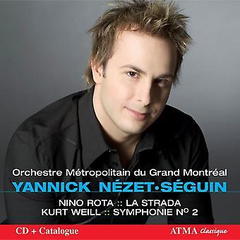 Rota/Weill - Nino Rota: La Strada; Weill: Symphony No. 2 [CD] USA importeren
