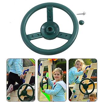 "10""- Plastic Steering Wheel For's Game With Pirate Ship Wheel (a)"