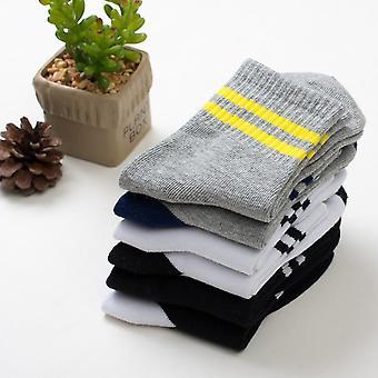 Spring & Autumn Stripe Cotton Socks