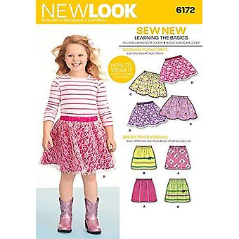 New Look Couture Modèle 6172 Filles Enfants Pull on Skirts Taille 3-8