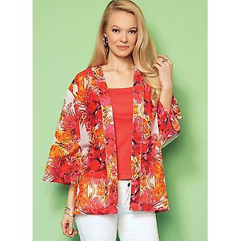 Kwik Sew Sewing Pattern 4208 Misses Open-Front Loose Jackets Knit Tops XS-XL UC