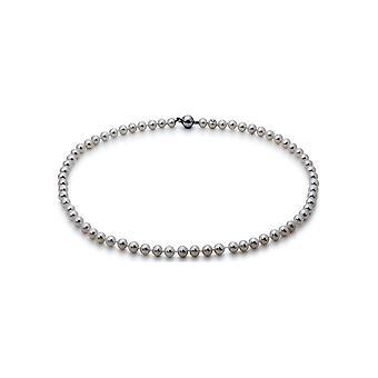 Collana perla Adriana Freshwater White 6-7 mm 585/- Oro Bianco 45 cm U7-6-51