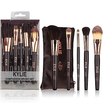 Kylie Complexion brush set 5 st. sminkborstar i förvaring