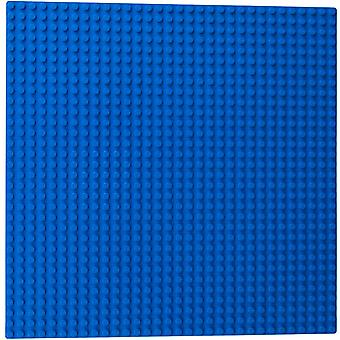 """Classic Baseplates 10"""" X 10"""" Building Brick Base Plates Compatible With All Major Brands,4 Blue Baseplates"""