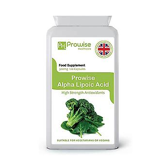 Alpha Lipoic Acid 300mg 120 Capsules | Suitable For Vegetarians & Vegans | Made In UK by Prowise