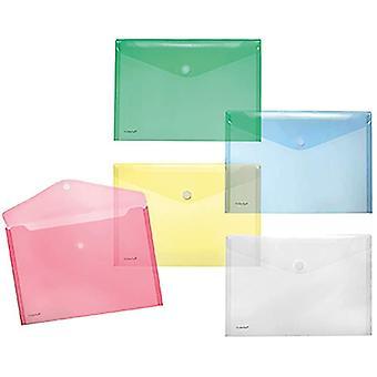 A4quer Transparente Taschen, verschiedene Farben, 10 Stück