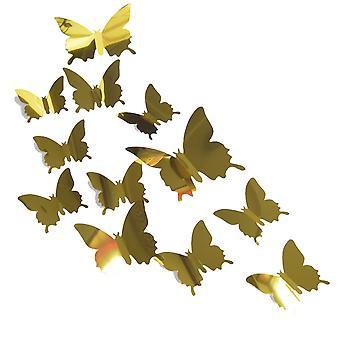 Regenboghorn 3D Butterfly Wall Sticker Decal 5 Color Choice 12 Pieces