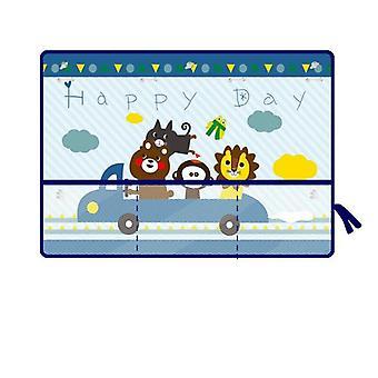 سيارة الجانب نافذة sunshade ستارة الكرتون قابل للتعديل الأشعة فوق البنفسجية واقية من الشمس الستائر قناع تغطية مع جيب التخزين للطفل