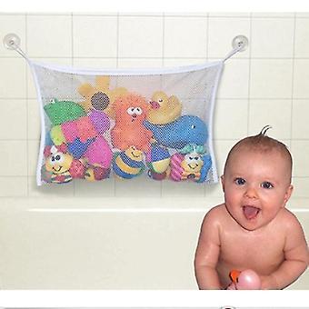 45 * 35cm útil durable bebê criança crianças banho brinquedos bolsa de armazenamento rede saco de malha