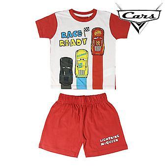 Children's Pyjama Cars Red White