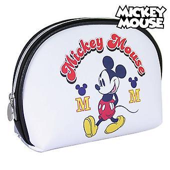 School Toilet Bag Mickey Mouse White