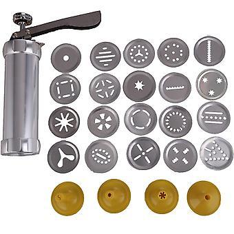 Biscuit Cookie Making Maker Pump Press Machine Cake Decor 20 Moulds+ 4 Nozzles