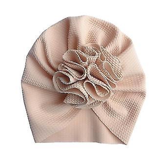 Lovely Flower Baby Hat - Bonnet Headwraps Kids Hat Beanie(Style 1 Beige)