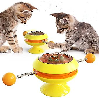 Rotatable cat toys supplies with catnip interactive training toys for cats kitten cat accessories pet products