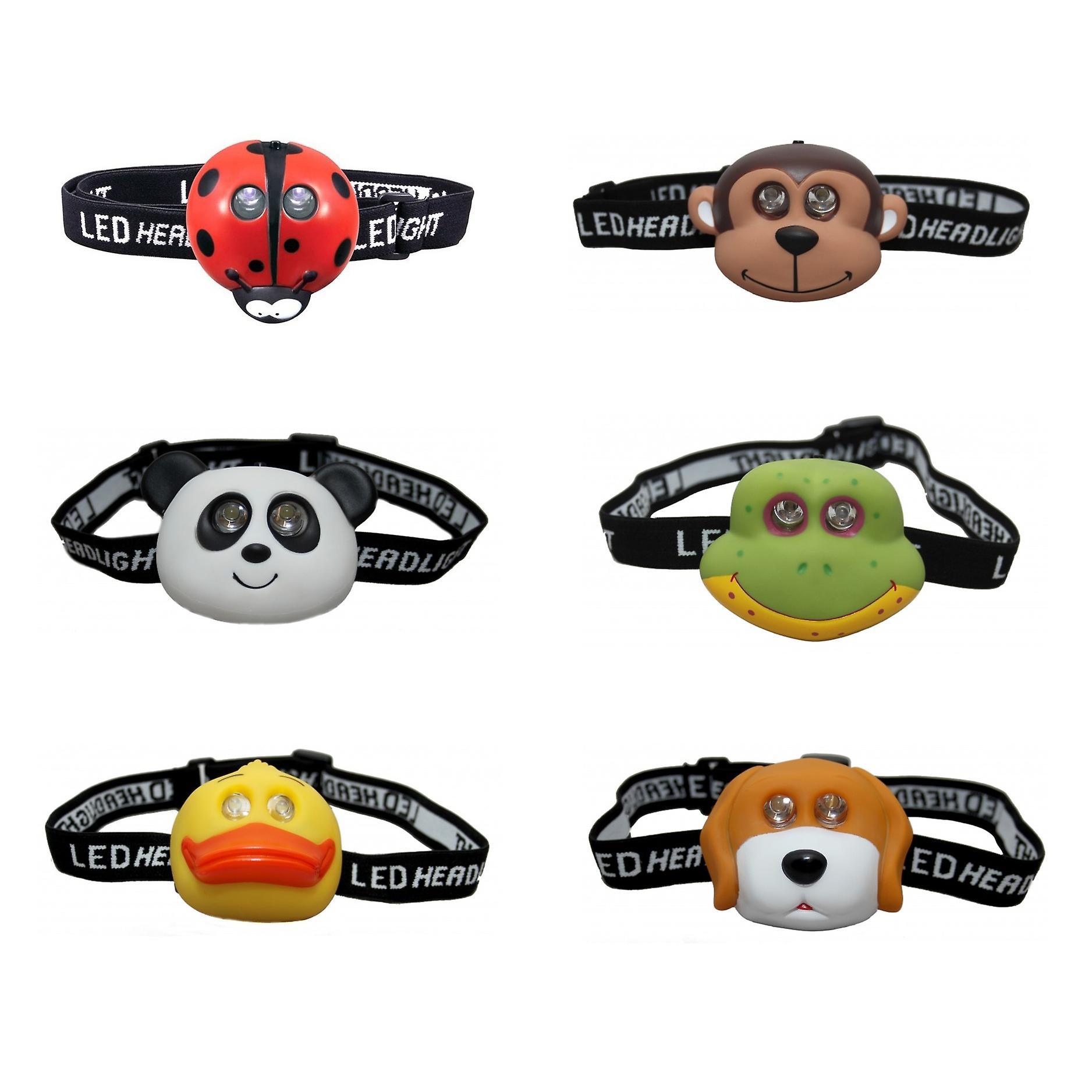 Clulite Kinder Tier LED Headtorch - Kinder Stirnlampe LED Taschenlampe Scheinwerfer