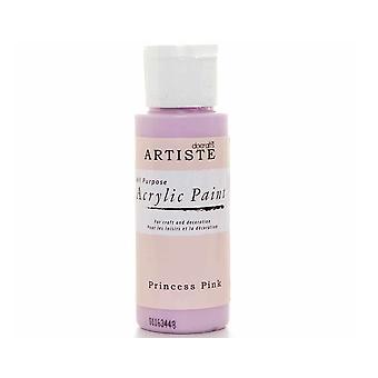 Princess Pink docrafts Artiste All Purpose Acrylique Craft Paint - 59ml